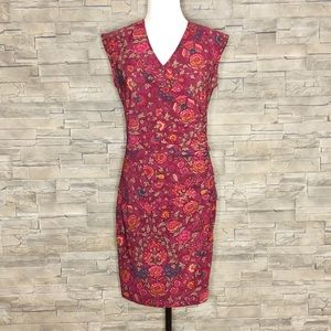Ralph Lauren plum and taupe floral dress